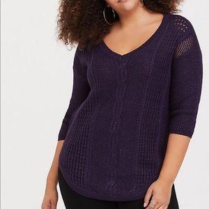 Torrid Purple Knit Sweater